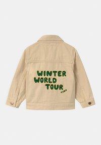 TINYCOTTONS - WINTER WORLD TOUR SOLID UNISEX - Denim jacket - cream - 1