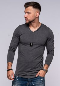 Jack & Jones - INFINITY  - Long sleeved top - dark grey melange - 0