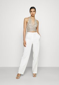 Gina Tricot - MULTIWAY GLITTER TOP - Top - beige - 1