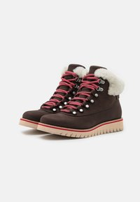 Cole Haan - ZEROGRAND EXPLORE HIKER WP - Winter boots - coffee bean/ivory/smokey grey - 2