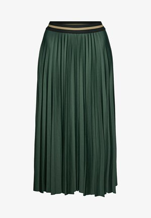 Pleated skirt - dark green