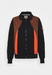 EVONNE TRACK SUIT - Zip-up sweatshirt - black beauty/potting soil