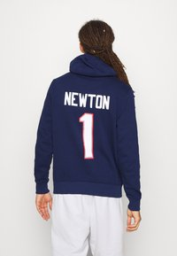 Fanatics - NFL CAM NEWTON NEW ENGLAND PATRIOTS ICONIC NAME NUMBER GRAPHIC - Hoodie - navy - 2