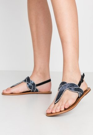 PSANALINE  - T-bar sandals - black