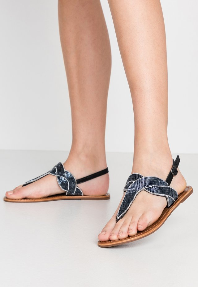 PSANALINE  - T-bar sandals - black