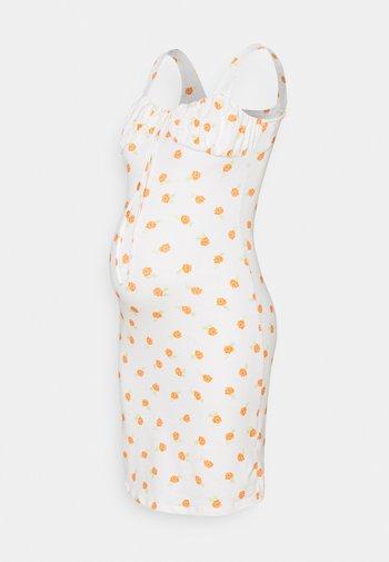 LADIES DRESS ROSE - Jersey dress - white/orange