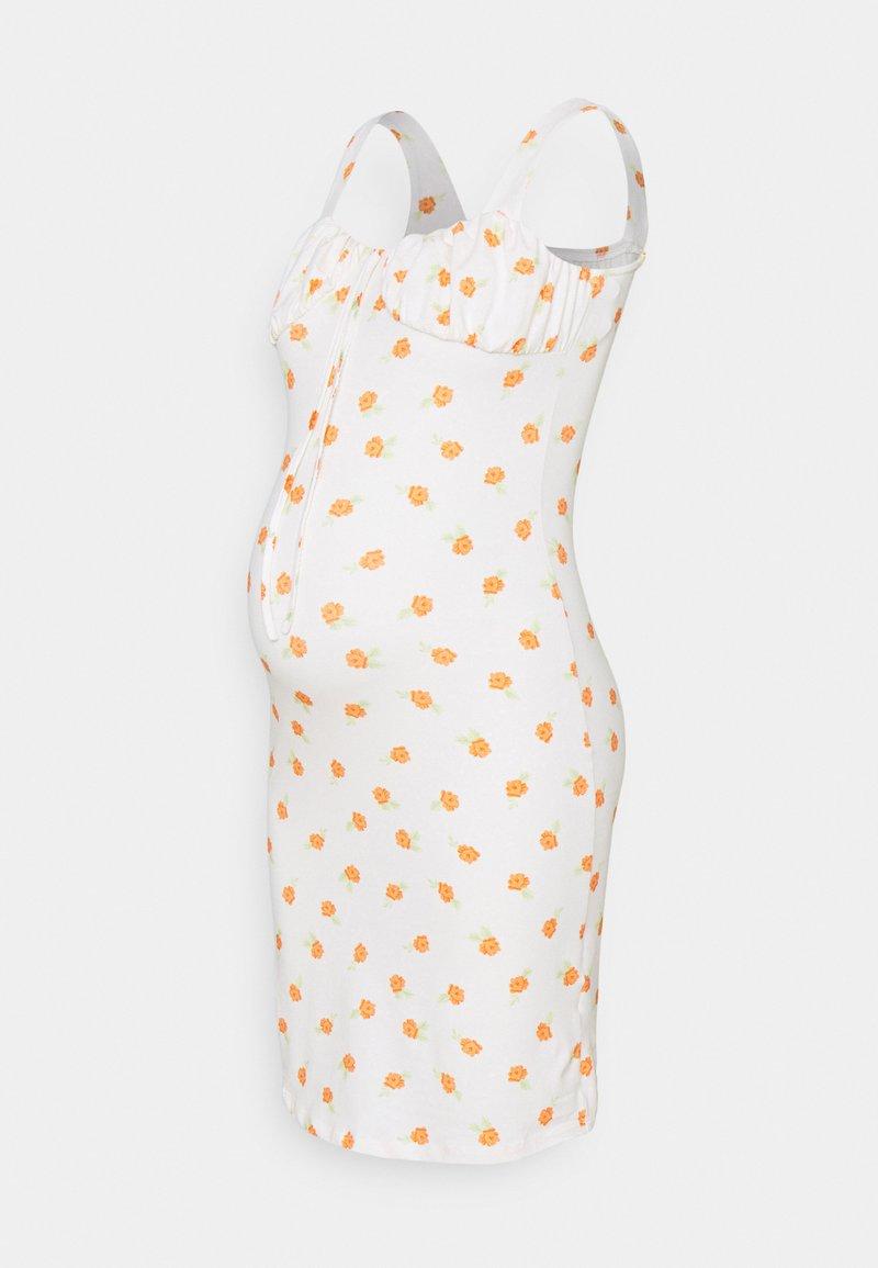 Glamorous Bloom - LADIES DRESS ROSE - Žerzejové šaty - white/orange