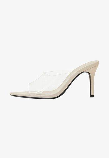 High heeled sandals - transparent