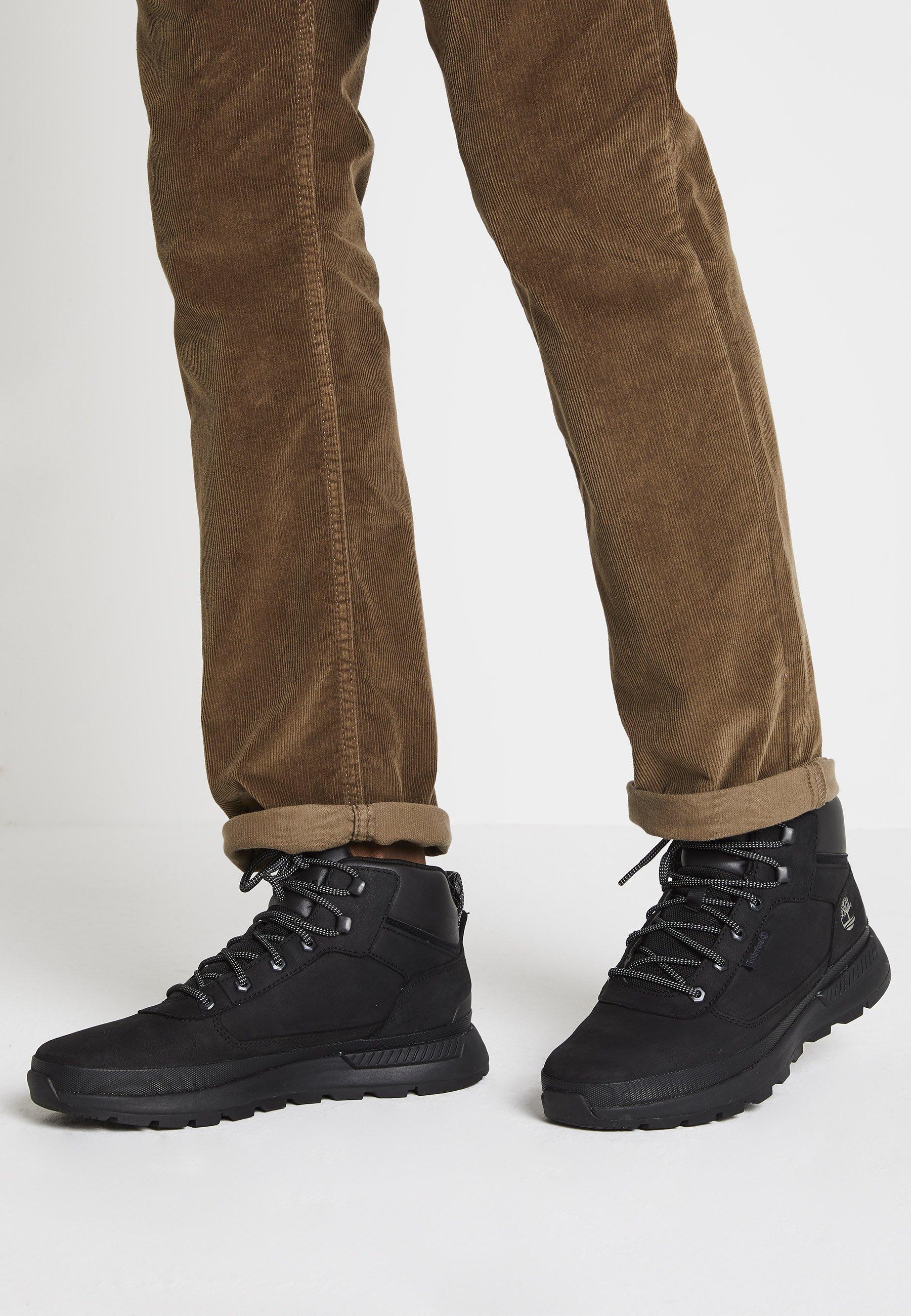 Prestigioso tonto Larry Belmont  Timberland FIELD TREKKER MID - Lace-up ankle boots - black - Zalando.co.uk