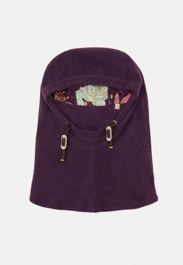 LINED HOOD - Muts - blackberry wine