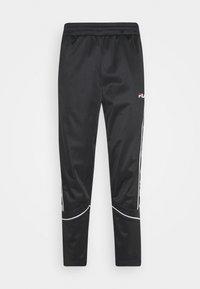 TED TRACK PANTS - Teplákové kalhoty - black