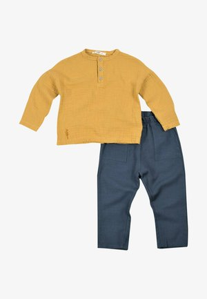 Two Pieces Set with Muslin Shirt (2 to 7 years) - Trousers - mustard yellow