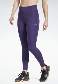Reebok - LUX SPEEDWICK LEGGINGS - Leggings - purple - 0
