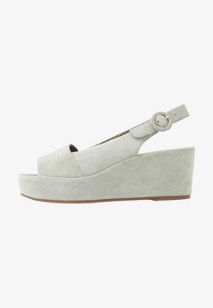 Platform sandals - salvia