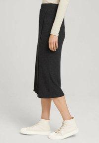 TOM TAILOR DENIM - Wrap skirt - mottled grey - 4