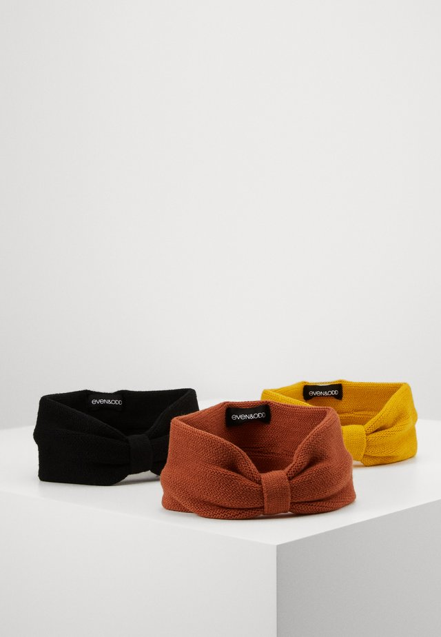 3 PACK - Mössa - mustard/blacK/orange