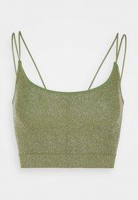 MARKIE CAMI - Top - green lurex