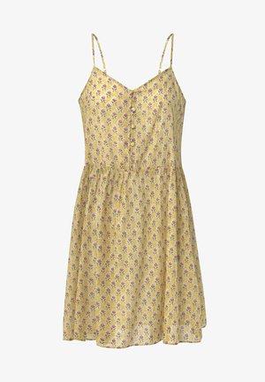 INDIAN COTTON NIGHTDRESS - Day dress - mustard yellow