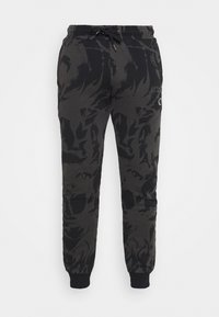 Criminal Damage - ABSTRACT JOGGER - Tracksuit bottoms - black - 4