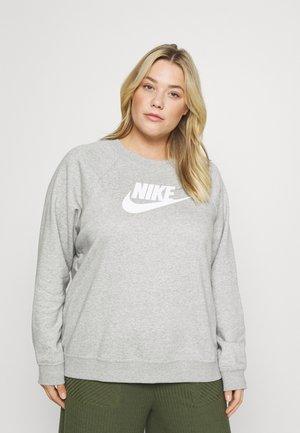 CREW PLUS - Sweatshirt - dark grey heather/white