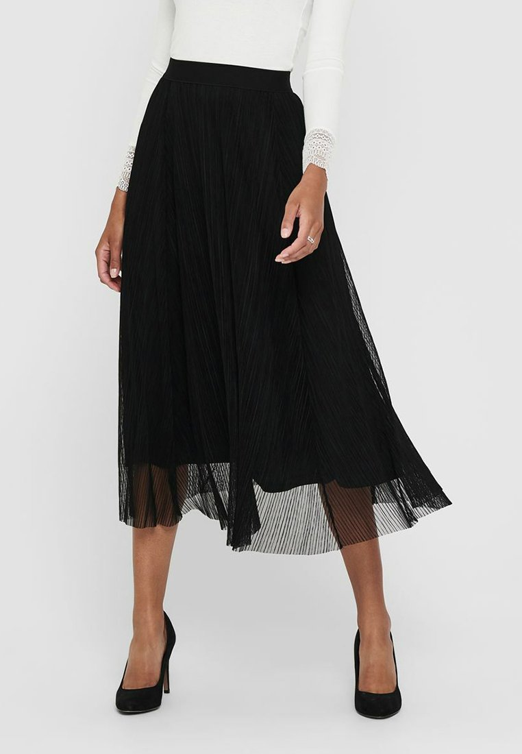 ONLY - Pleated skirt - black
