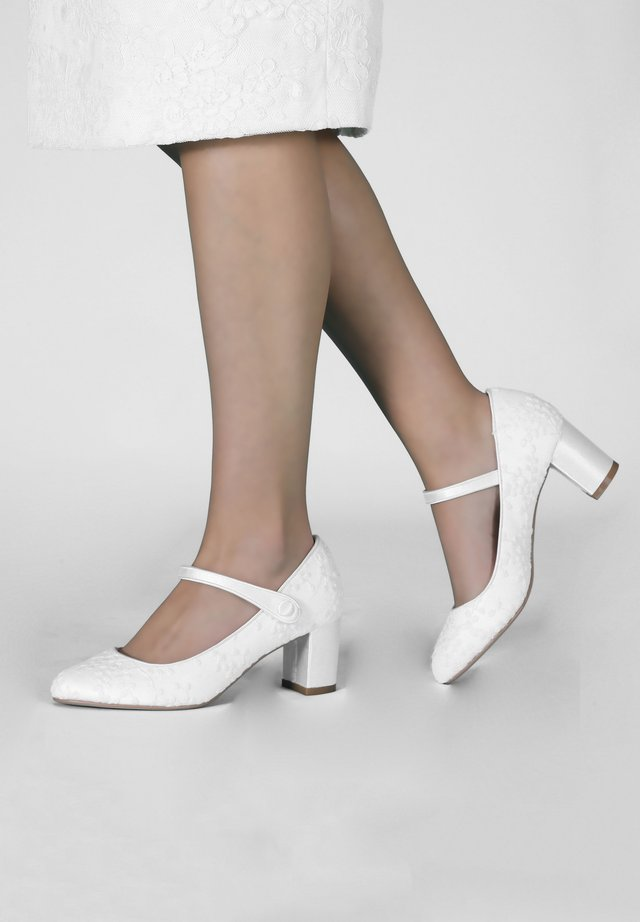BRAUTSCHUHE TONI -  SPITZE - Classic heels - ivory