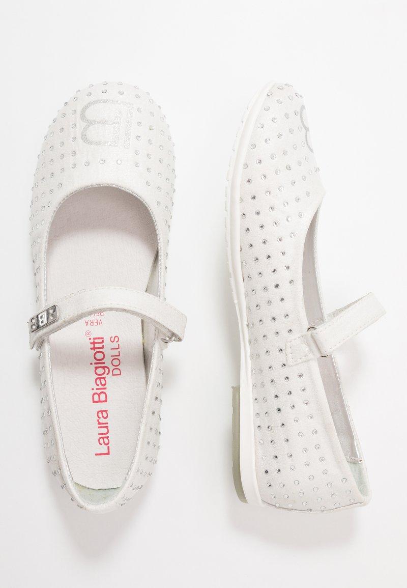Laura Biagiotti - Ankle strap ballet pumps - white