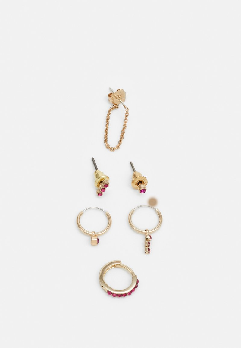 Topshop - FINE STUF AND EAR CUFF 6 PACK - Náušnice - gold-coloured