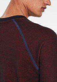 G-Star - JIRGI TAPE DETAIL ROUND LONG SLEEVE - Sweatshirt -  blue/dry red - 3