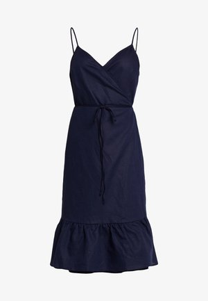 CAMI RUFFLE WRAP - Day dress - navy uniform