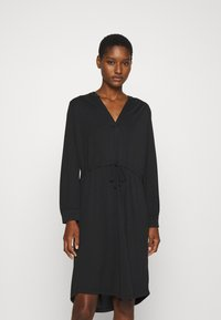 Selected Femme - SLFMIE DAMINA DRESS - Jersey dress - black - 0