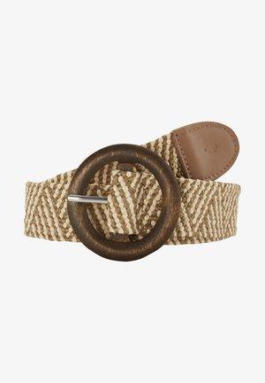 Braided belt - beige/vanilla