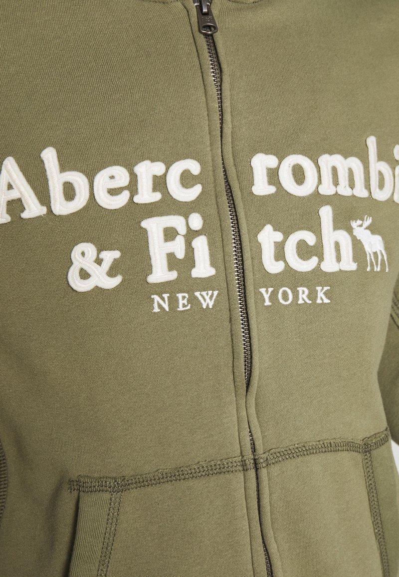 Abercrombie & Fitch LONG LIFE FULL ZIP - Sweatjacke - green/grün 5CtOGk
