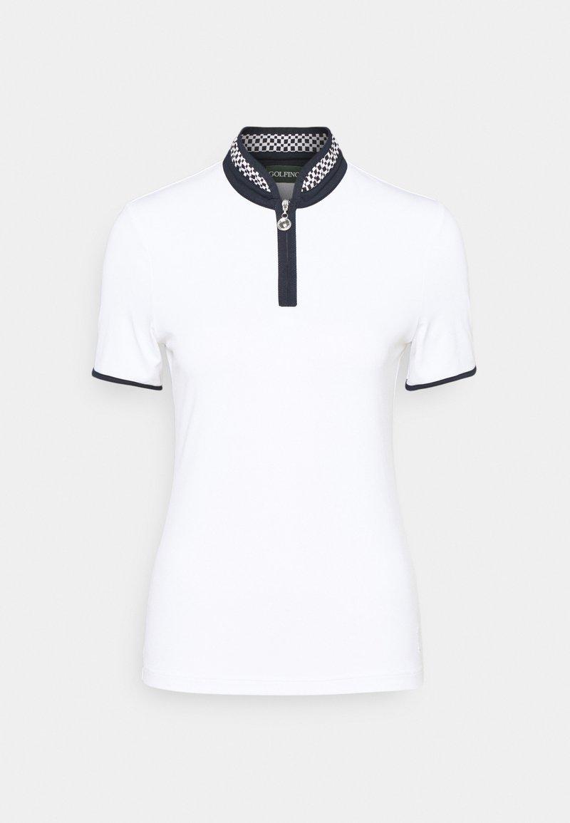 Golfino - RACING TROYER - Print T-shirt - optic white