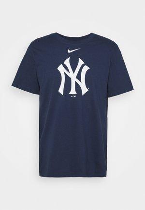 MLB NEW YORK YANKEES LARGE LOGO - Klubbkläder - midnight navy