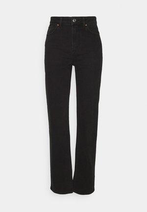 ONLMEGAN WIDE - Straight leg jeans - black denim