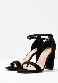 New Look Wide Fit - WIDE FIT TARONA - Sandály na vysokém podpatku - black - 4