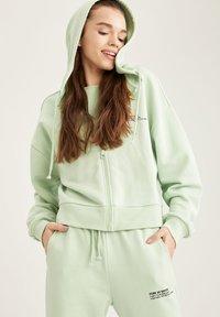 DeFacto - Zip-up hoodie - turquoise - 0