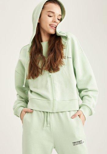 Zip-up sweatshirt - turquoise