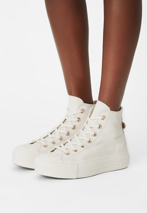 CHUCK TAYLOR ALL STAR LIFT - Sneakers hoog - egret/light gold