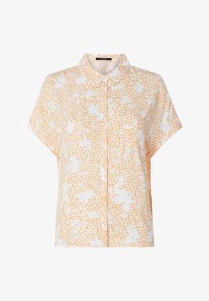 Button-down blouse - silky orange