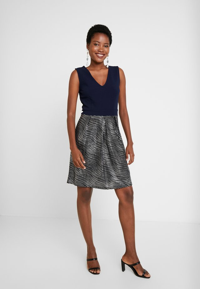 Denní šaty - silver/dark blue
