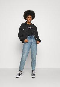 Tommy Jeans - ESSENTIAL LOGO LONGSLEEVE - Long sleeved top - black - 1