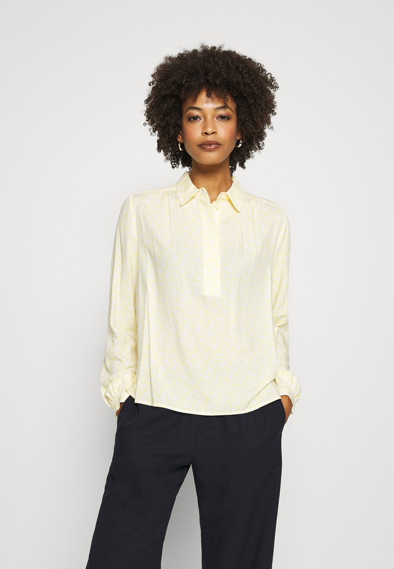 Tommy Hilfiger - DANEE HALF PLACKET - Button-down blouse - posy/ sunray