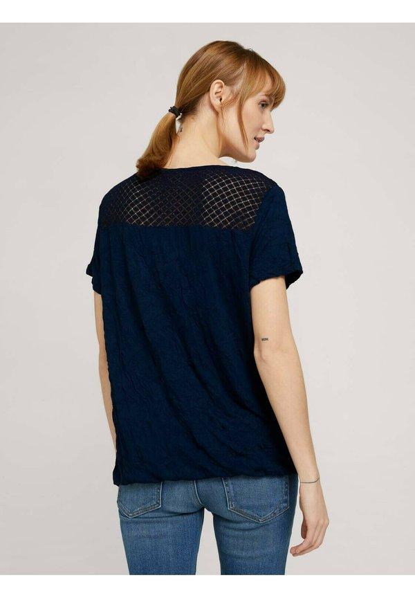 TOM TAILOR T-shirt z nadrukiem - sky captain blue/granatowy KIFP