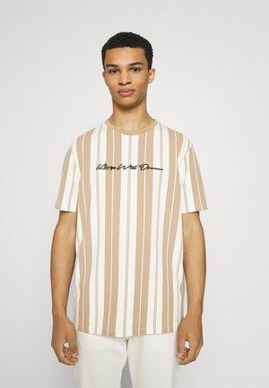 ALVERTON STRIPE TEE - Print T-shirt - ecru/sand