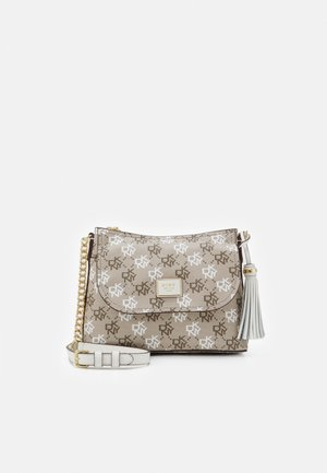 AALTA FLAP SHOULDER BAG LOGO - Across body bag - brown multi/white