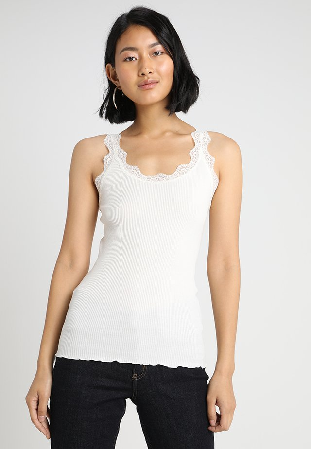 ORGANIC TOP WITH LACE - Top - new white