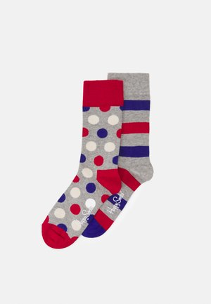 FRENCH COLOUR 2 PACK - Socks - grey, blue, red
