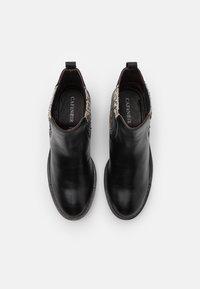 CAFèNOIR - Classic ankle boots - nero/bianco - 5